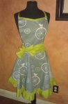 Grey and Lime Full apron